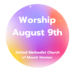 Worship August 9- Online or Outdoors In Person