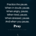 Prayer time- When will you pause?